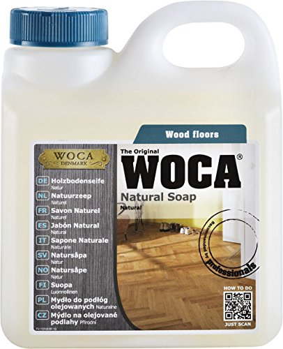 Woca zeep voor houten vloeren, natuur, 2,5 liter, voor natuurlijk geoliede houten vloeren