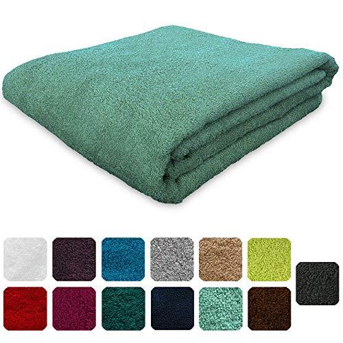 Lanudo® Pure Line - Lujosa toalla de 600g/m², 50x100 cm, con ribete, 100% del mejor algodón de rizo en la máxima calidad, varios colores, 100% algodón, verde menta, 50 x 100 cm