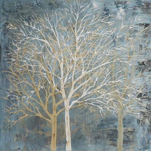 Abstrakte Bäume Ölgemälde Poster Wandgemälde Leinwand Malerei Wohnzimmer dekorative Malerei rahmenlos