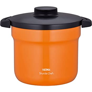サーモス 真空保温調理器 シャトルシェフ 4.3L (4~6人用) オレンジ 【調理鍋ふっ素コーティング加工】 KBJ-4500 OR