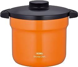 """THERMOS Vacuüm Warm Cooker""""Shuttle Chef"""" KBJ-4500 OF (Oranje)【Japan Binnenlandse echte producten】"""