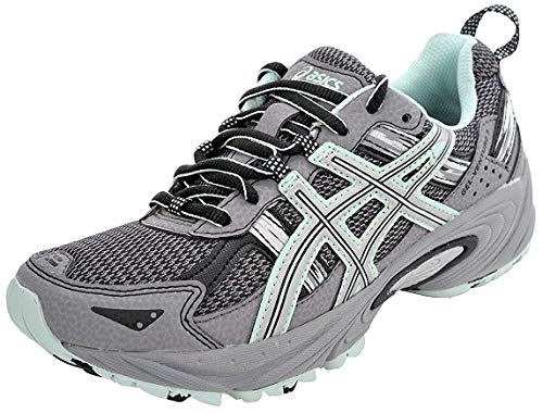 ASICS Women's Gel-Venture 5 Trail Running Shoe, Frost Gray/Silver/Soothing Sea, 9.5 M US