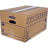 BANKERS BOX SmoothMove Heavy Duty Double Wall Cardboard Moving and Storage Boxes with Handles, 39 Litre, 26 x 32 x 47 cm, 10 Pack