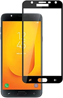 Samsung Galaxy J7 Duo Curved 3D Full Coverage Tempered Glass Screen Protector For Galaxy J7 DUO With Black Frame By Muzz