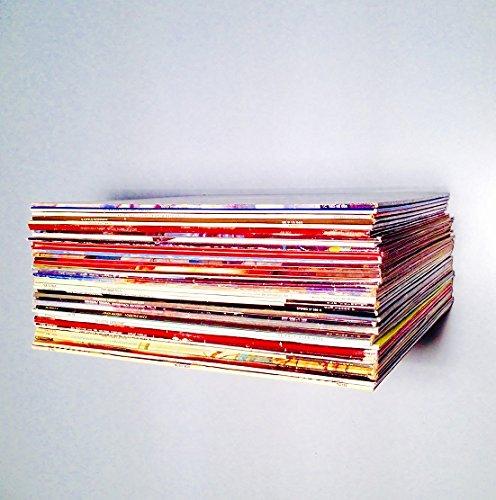 Weller Schallplattenregal LP LPs Plattenregal unsichtbar Vinyl schwarz schwebend Regal Platten Metall