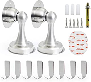 Magnetic Door Stop Stainless Steel Magnetic Door Catch Oor Stopper 3M Double Sided Adhesive Tape No Drilling Screws for St...