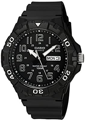Casio Men's Classic Quartz Watch with Resin Strap, Black, 20 (Model: MRW-210H-1AVCF)