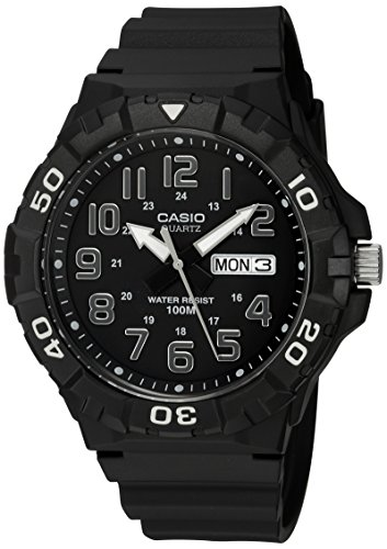 Casio Men's Classic Quartz Watch with Resin Strap, Black, 20 (Model:...
