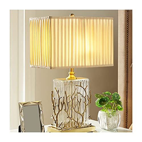 OMING Table Lamps Table Lamp Modern Minimalist Copper Crystal Glass Creative Decoration Table Lamp Living Room Bedroom Bedside Lamp Crystal Table Lamp