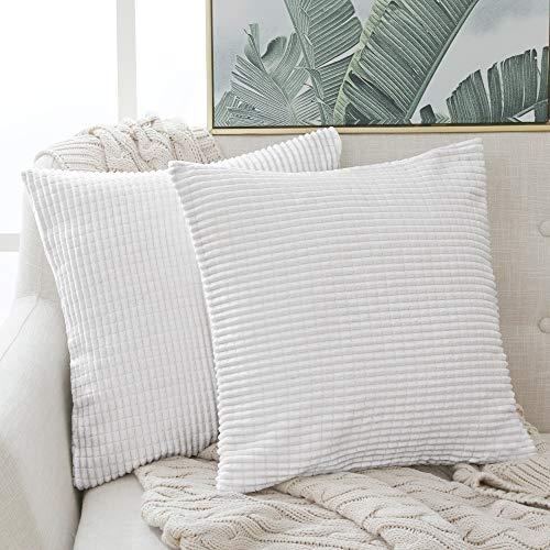 Deconovo Kissenbezug Dekokissen Kissenhülle Dekorative Zierkissenhülle Super Weich Kissenbezüge Decor für Sofa Couch...