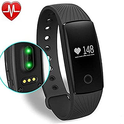 Willful Fitness Tracker with Heart Rate Monitor, SW321 Activity Tracker Smart Bracelet Smartwatch Pedometer with Step Calorie Counter Sleep Monitor Alarm Clock Call SMS Notice for iPhone iOS Android