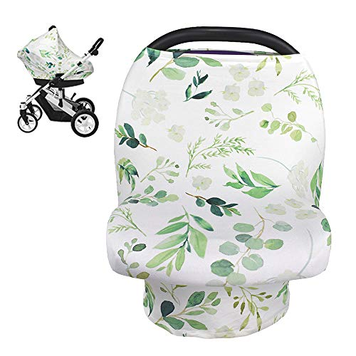 Breastfeeding Canopy Nursing Scarf Jomolly 5-in-1 Stretchy Floral Baby Car Seat Covers