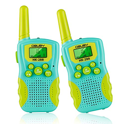 Children Walkie Talkies 2 pcs Long Range Kids Walky Talky 8 Channels License Free Two-Way Radios for Kids Christmas Xmas Gifts Camouflage green