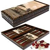 PrimoLiving Deluxe Holz Backgammon Set TOPKAPI Fountain im XXL Format 50x50cm -