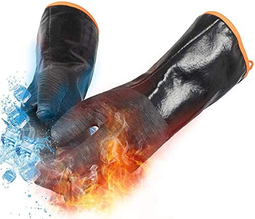 BBQ Gloves 932 Heat Resistant Grill Gloves Smoker Kitchen Cooking Protective Oven Mitts Silicone product image