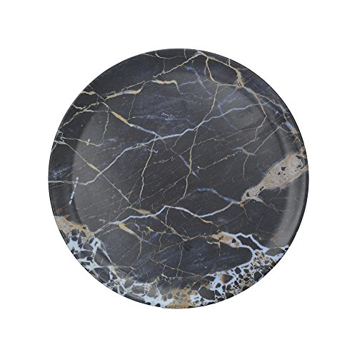 Creative Tops Plateau rond en mélamine avec impression décorative, bleu marine, 36 centimeters
