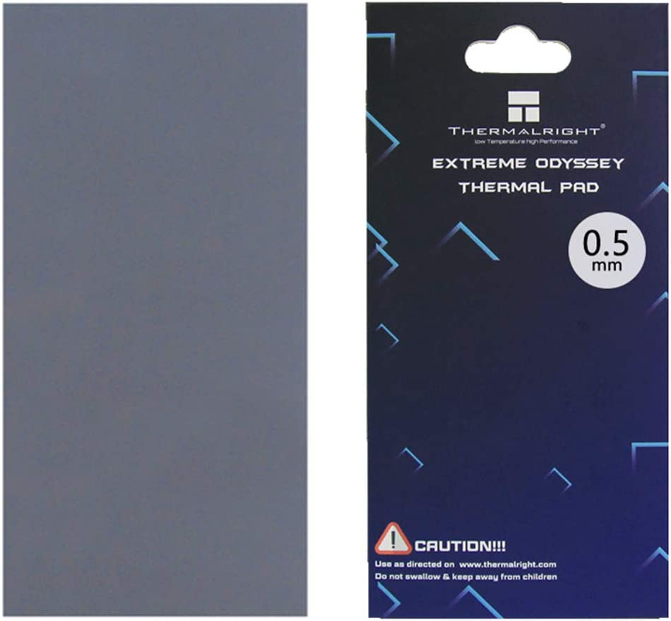 85x45x1.5mm Non Conductive Heat Resistance High Temperature Resistance One enjoy Thermalright Thermal Pad 12.8 W//mK Silicone Thermal Pads for Laptop Heatsink//GPU//CPU//LED Cooler