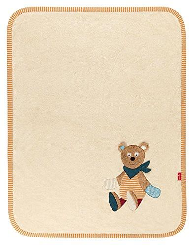 sigikid, Mädchen und Jungen, Schmuse-Decke Bär, Maße: 100 x 75 cm, Harvey Harvest, Natur, 41037