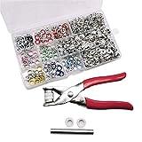 cherrypop 200Pcs / Set Snap Fasteners Kit Tool 10 Colores 9.5Mm Botones de PresióN de Metal Anillos con Alicates de SujecióN Herramienta de Prensa para Ropa
