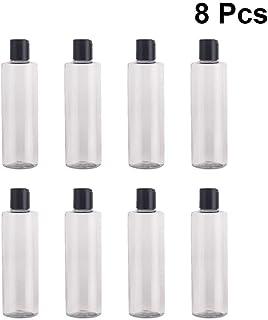 LUCEMILL 5 x 250 ml bottiglie di plastica PET trasparente con coperchio nero riciclabile