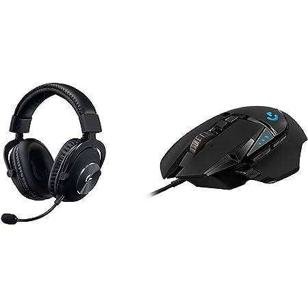 Logitech G Pro Gaming Headset, Black & G502 Hero High Performance Gaming Mouse