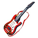 Kedoung Electric Guitar for Kids Girls Boys Age 3-5 with Strap,Toy Guitar for Toddlers with Light and Music Gifts for Kids(Red)
