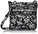 Vera Bradley Signature Cotton Triple Zip Hipster Crossbody Purse, Holland Garden