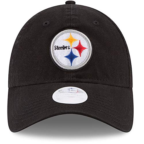 New Era NFL Pittsburgh Steelers - Gorra Ajustable para Mujer, Talla única, Color Negro