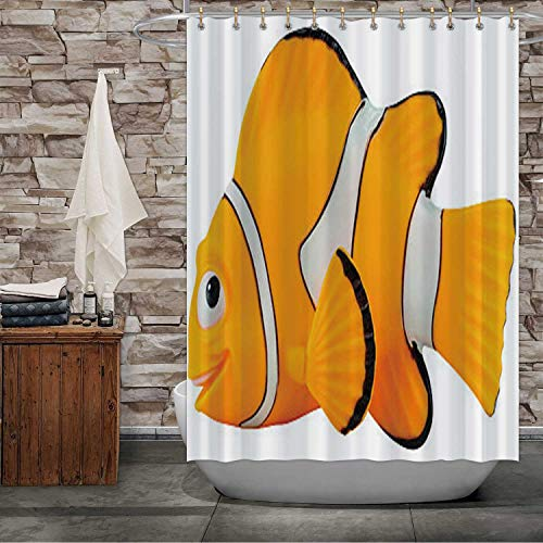 C COABALLA Marlin Fish Toy Character from Finding Nemo Museum,Bath Curtain Modern Bathroom Accessories, 2015 Machine Washable 72''Wx72''H