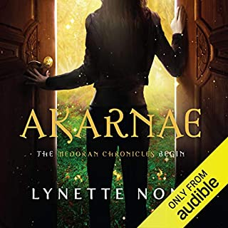 Akarnae     The Medoran Chronicles, Book 1              By:                                                                                                                                 Lynette Noni                               Narrated by:                                                                                                                                 Carly Robins                      Length: 13 hrs and 3 mins     66 ratings     Overall 4.6