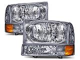 HEADLIGHTSDEPOT Chrome Headlight Park Signal Light...