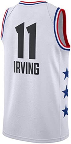 Li Kun Peng Kyrie Irving NO.11 Filets De Brooklyn Jersey Version Double Combat Couple Basketball Uniforme Ville Ball Costume Formation Gilet,C1blanc,XL