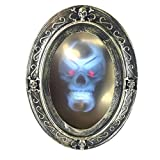 AFGBB Haunted Mirror Halloween Magic Wall Mirrorwith Creepy Sound-Luminous Portrait, Motion Activated Bathroom Decorations Prop Decor Gift