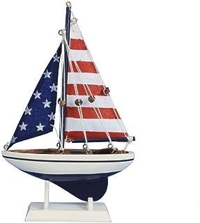 (23cm, USA Flag) - Hampton Nautical USA Flag Sailer, 23cm