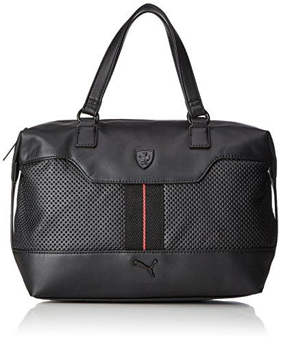PUMA Ferrari LS Handbag Handtasche, Black, 41 x 36 x 2.2 cm
