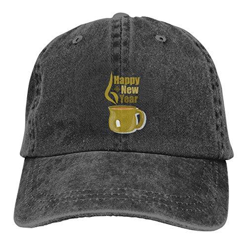 SVDziAeo Cap Blah Blah Blah Geburtstagsgrußkarte Neujahr Schneetassen ACF Unisex hochwertige Cowboyhut verstellbare Rückseite Knopf Hut