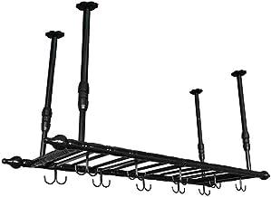 HTTJJ Wall-Mounted Wine Rack - Floating Wine Bottle Holder - for Kitchen, Restaurant, Bar, Wine Cellar - Hanging Wine Rack...