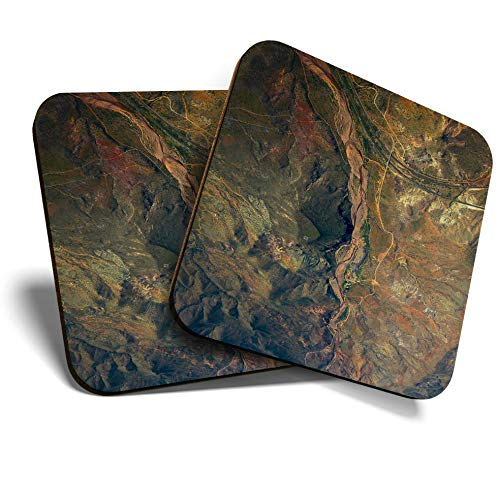 Great Coaster - Posavasos (2 unidades, cuadrados, diseño de Arizona Desert America, Estados Unidos, brillante calidad de protección para cualquier tipo de mesa #44146