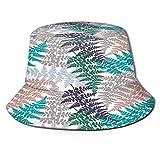 RUEMAT Cappello da Pescatore Unisex,Fern Frond Herbs Pianta Tropicale della Foresta,Cappello da Sole Pieghevole Cappello da Pesca Viaggio Spiaggia Esterno Cappellino Fisherman cap Hat