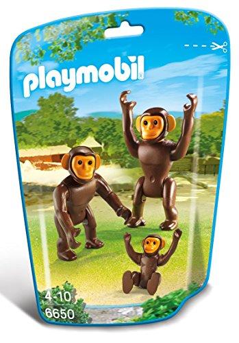 Playmobil 6650 - Famiglia di Scimpanzé, 3 Pezzi