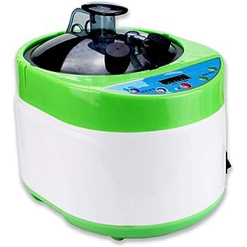 KKTECT Olla de vapor de sauna Juego de sauna de vapor port/átil Vaporizador 1000W 2L Juego de vapor de sauna plegable Conjunto de spa de sauna ligero Terapia de desintoxicaci/ón para bajar de peso