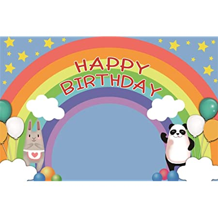 GoEoo 10x7ft Vinyl Happy Birthday Photography Background Colorful Photoframe Balloons Radial Blue Striped Backdrop Child Adults Boy Birthday Party Banner Kids Room Wallpaper Studio Props