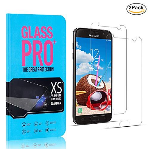 2 Stück NBKASE Panzerglas Panzerglasfolie Kompatibel mit Samsung Galaxy S7, Kratzfest, Anti-Fingerprint, Blasenfrei,