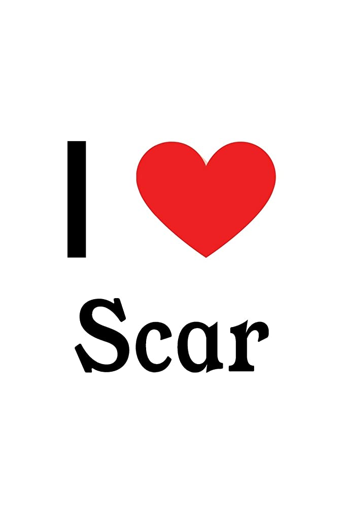 期限切れ妨げるホールI Love Scar: Scar Designer Notebook