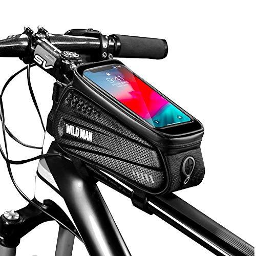 Bolsa Sillin Bicicleta Beam estuche rígido de la bici del frente del bolso bolsa de bicicletas de montaña de teléfono móvil de pantalla táctil superior tubo de la bolsa Bolsa de sillín Riding Equipmen