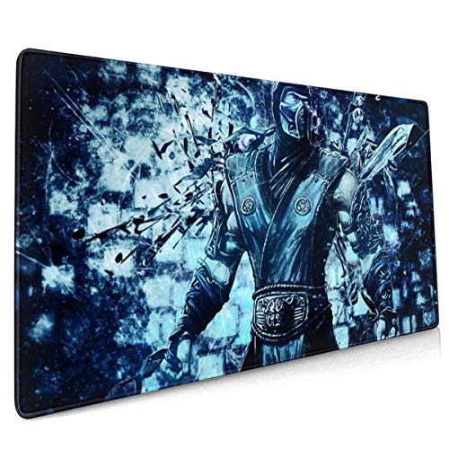 Mortal Kombat Subzero Mouse Pad Rectangle Non-Slip Rubber Electronic Sports Oversized Large Mousepad Gaming Dedicated,for Laptop Computer & PC 15.8X35.4 Inch