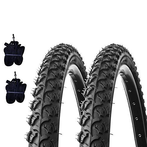 2 COPERTONI Kenda 26 X 1.95 (50-559) + CAMERE d'Aria Pneumatici Neri Mountain Bike Bici Bicicletta MTB
