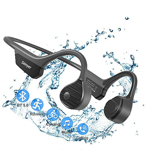 Bluetooth kopfhörer sport knochenschall kopfhörer kabellosen offenem Ohr Sportkopfhörer Bluetooth 5.0 mit Noise Cancelling Mikrofon 8H Play HiFi 6D Stereo wasserdichte IPX7 zum Laufen Fahren Radfahren