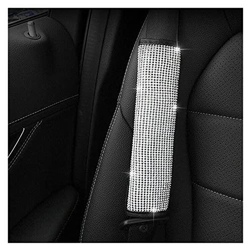 Almohadillas para cinturón 1 unid asiento suave cinturón de asiento almohadillas de hombro Bling Accesorios para automóviles Rhinestone Cinturón de asiento del hombro Proteger Pad Cover Cushion Ajusta