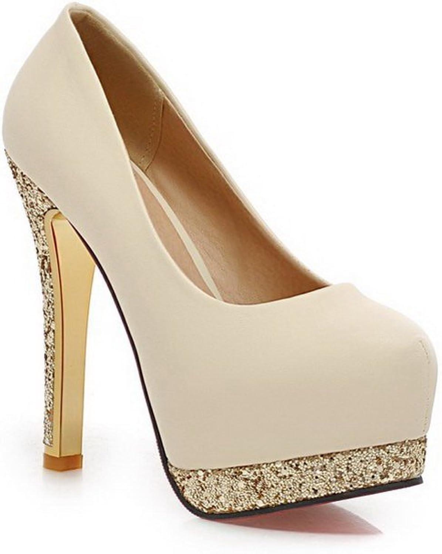 1TO9 Womens Heighten Inside Dress High-Heels Polyurethane Pumps-shoes